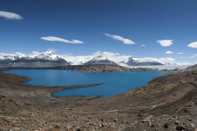 Ghiacciaio nella Patagonia, Argentina di Laguna Anita e di Upsala immagine stock
