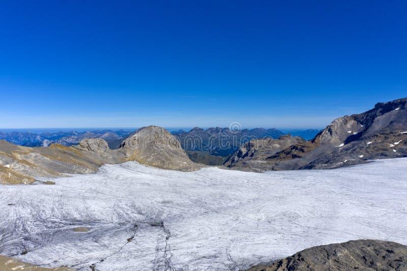 Ghiacciaio nelle Alpi Bernese, Svizzera fotografia stock