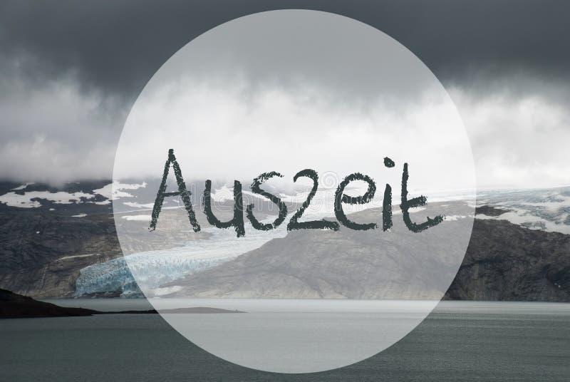 Ghiacciaio in Norvegia, lago, tempo morto di mezzi di Auszeit fotografie stock libere da diritti
