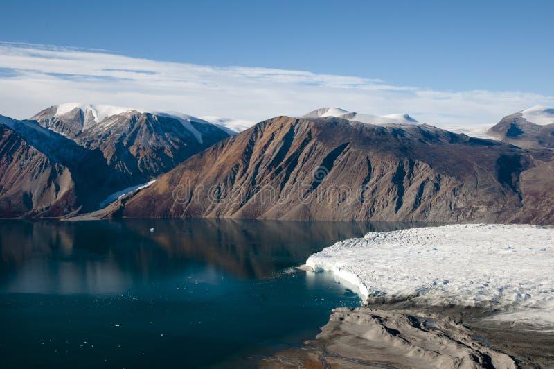 Ghiacciaio - suono di Scoresby - la Groenlandia fotografie stock libere da diritti