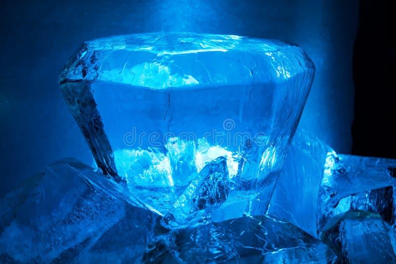 Ghiaccio blu cristal immagine stock libera da diritti