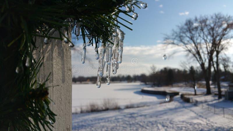 Ghiaccio dal lago fotografia stock