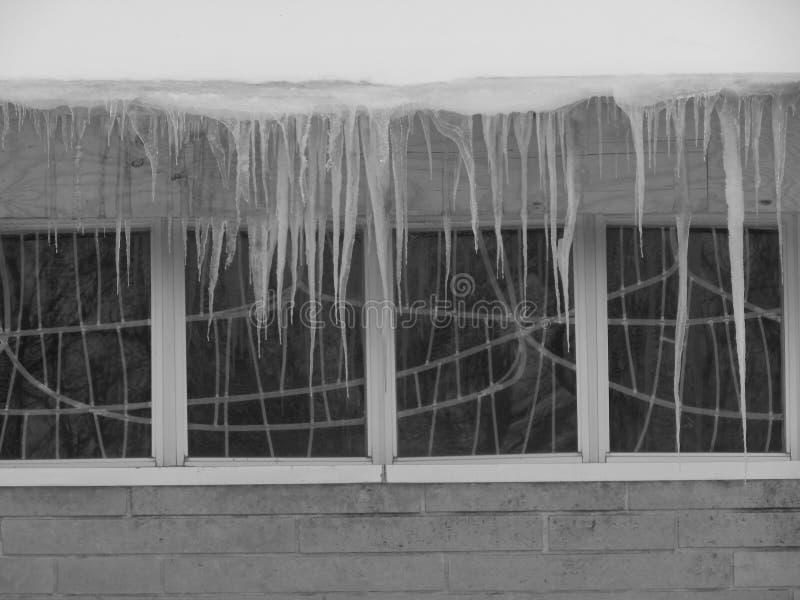 ghiaccio di finestra della chiesa fotografie stock libere da diritti