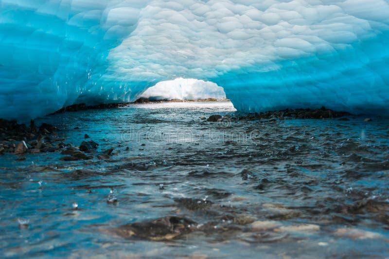 Ghiaccio di fusione su The Creek fotografie stock libere da diritti