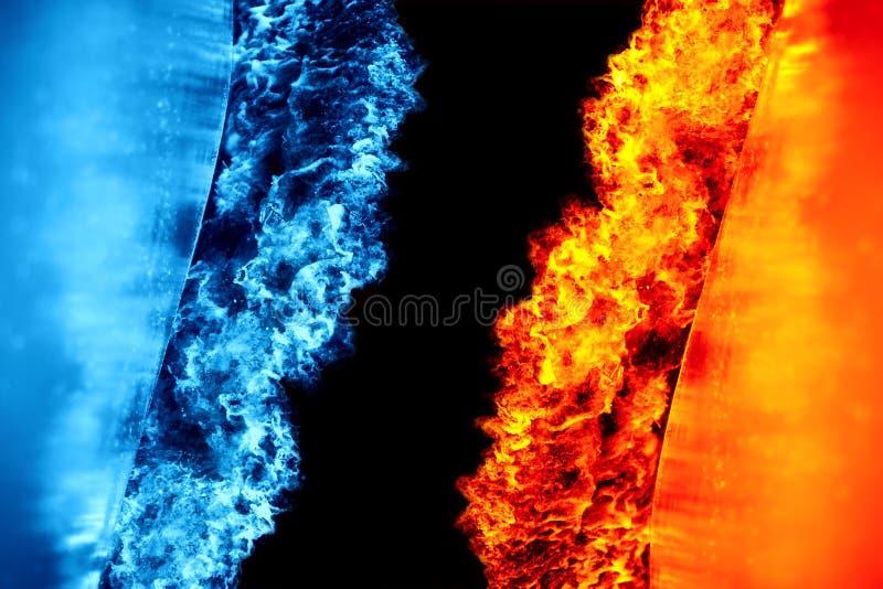 Ghiaccio e fuoco immagini stock