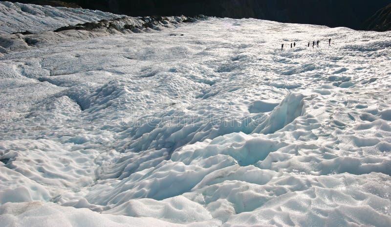 Ghiaccio irregolare del ghiacciaio sulla montagna fotografie stock libere da diritti
