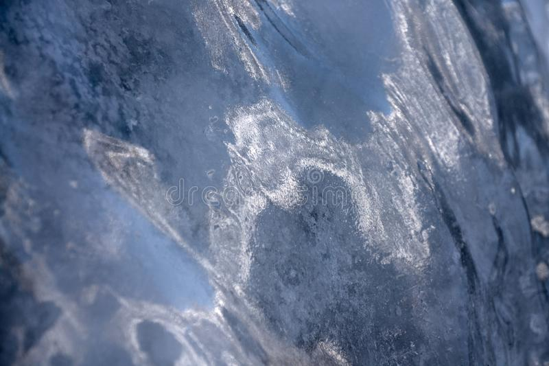 Ghiaccio sul icefall fotografie stock