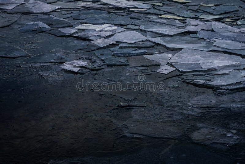 Ghiaccio sul lago Michigan immagine stock libera da diritti
