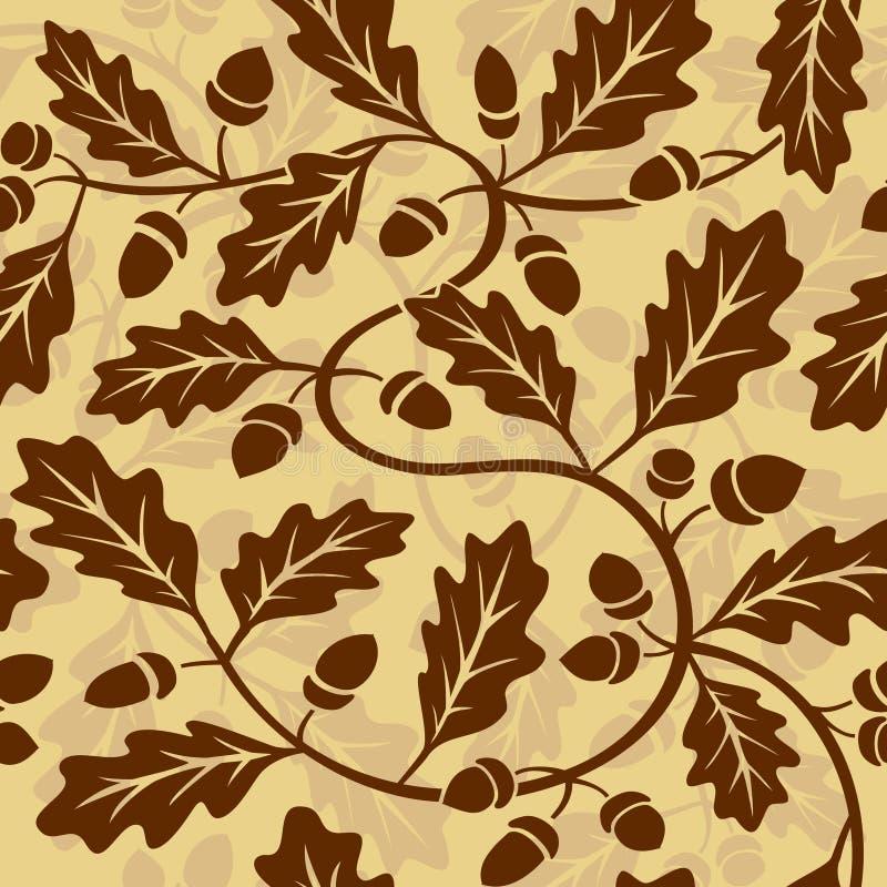 Ghianda del foglio della quercia illustrazione vettoriale