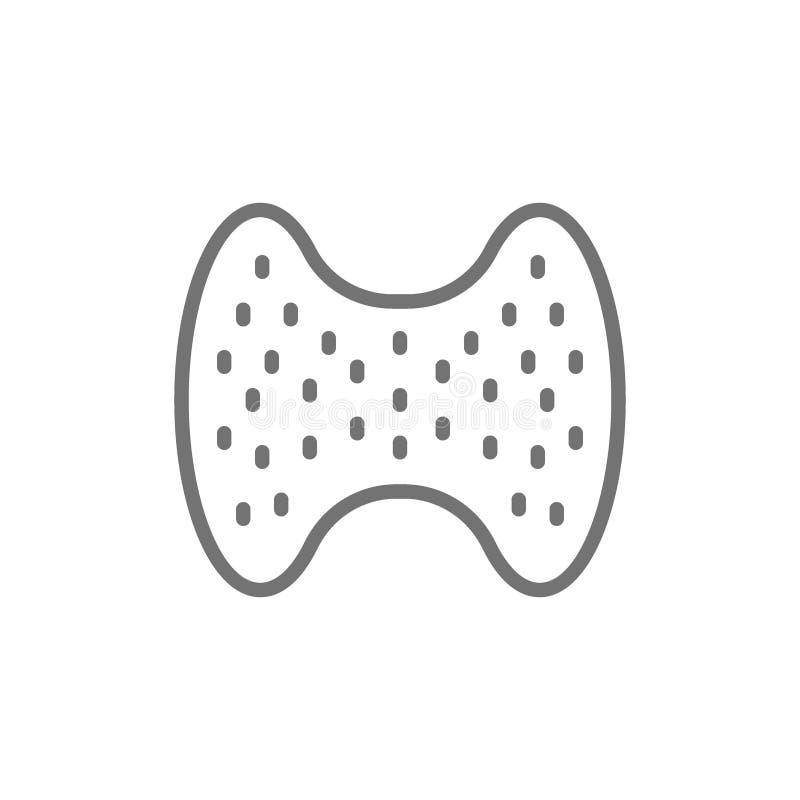 Ghiandola tiroide, organo umano, linea laringea icona illustrazione vettoriale
