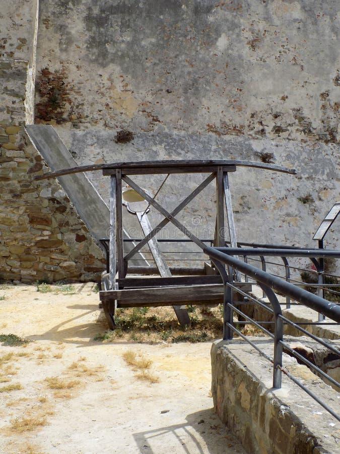 Ghigliottina-Tarifa-Cadice - l'Andalusia antiche fotografia stock
