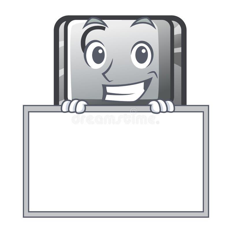 Ghignando con il bottone C del bordo su un carattere della tastiera illustrazione di stock