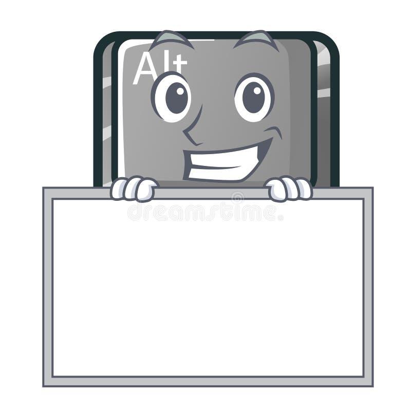 Ghignando con il bottone del bordo alt nella forma del fumetto illustrazione vettoriale