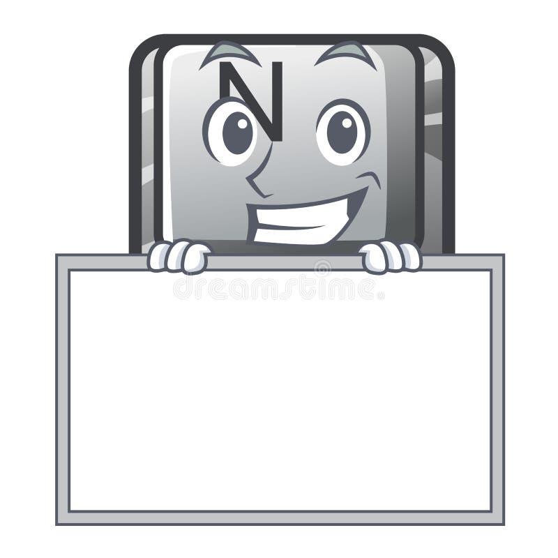 Ghignando con il bottone N del bordo su un carattere del gioco royalty illustrazione gratis