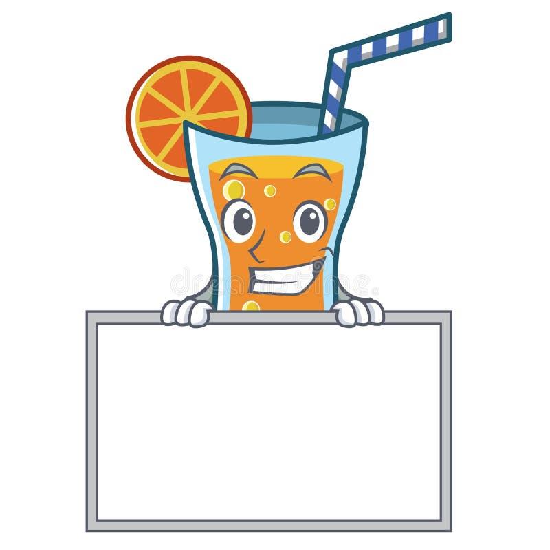 Ghignando con lo stile del fumetto del carattere del cocktail del bordo illustrazione di stock