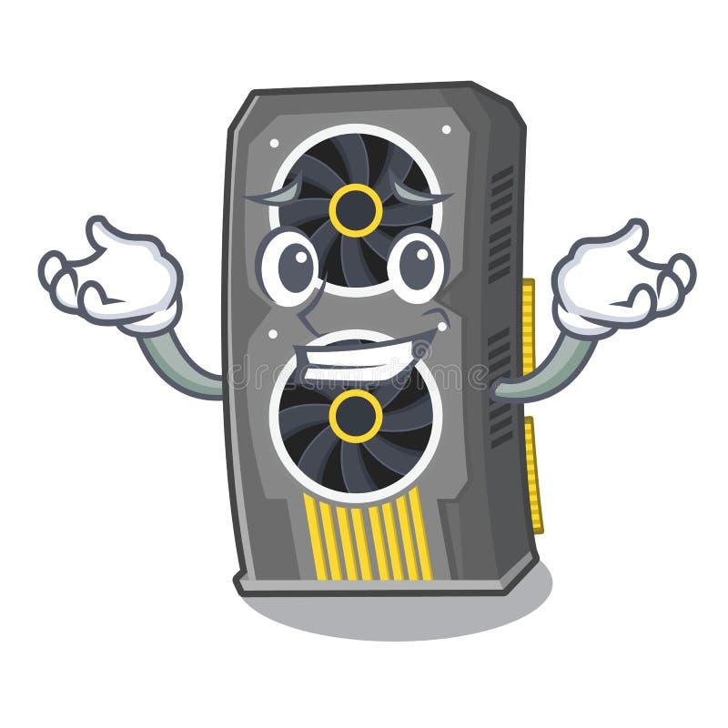 Ghignando video carta grafica isolata con il fumetto illustrazione di stock