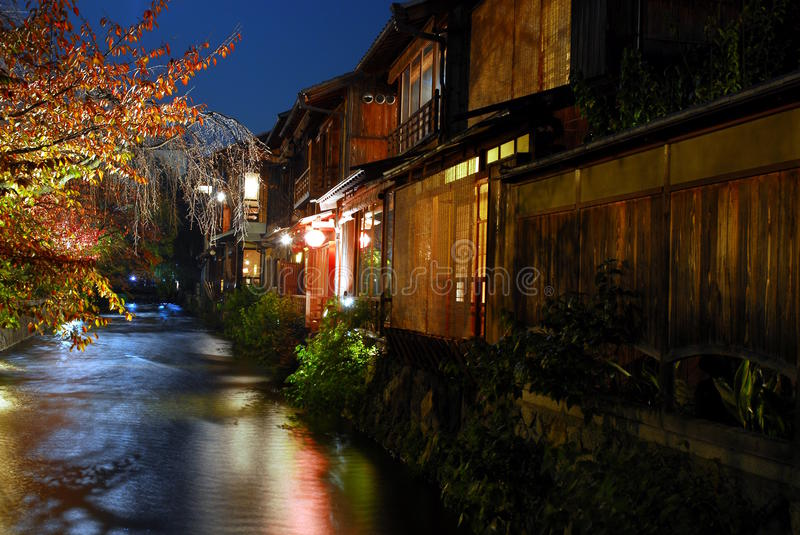 Ghion at night stock images
