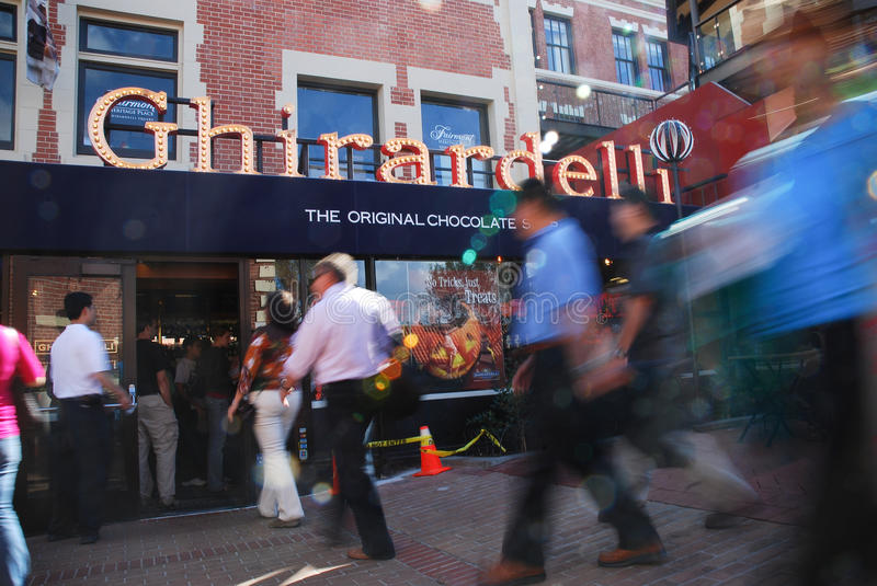 Ghirardelli Chocolate Store stock photo