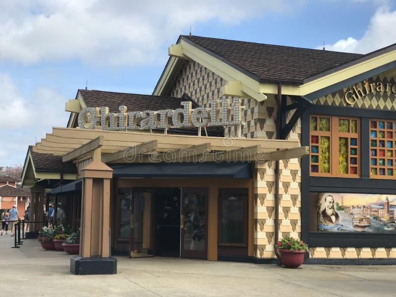 Ghirardelli ` s, Disney-de Lentes, Orlando, Florida stock foto's