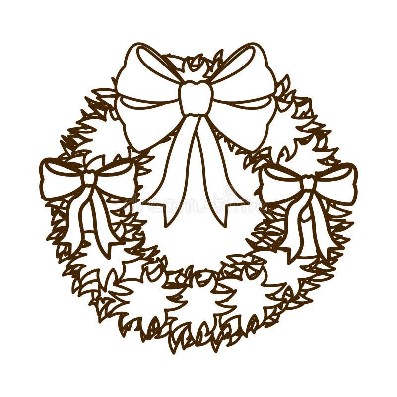 Ghirlanda con l'arco e l'icona isolata stelle royalty illustrazione gratis