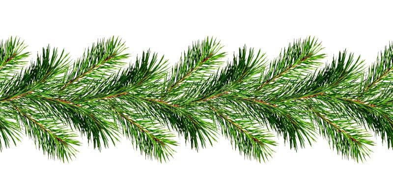 Ghirlanda dei ramoscelli del pino di Natale fotografie stock libere da diritti