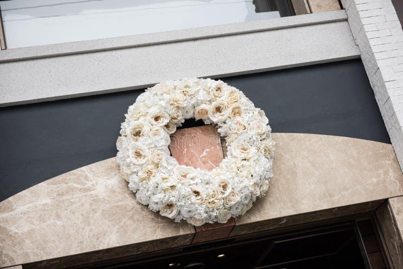 Ghirlanda del fiore nel Giappone immagini stock libere da diritti