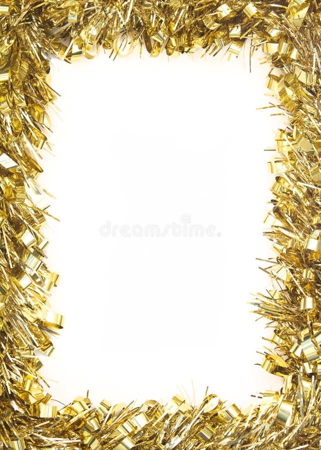 Ghirlanda della canutiglia di natale dell'oro fotografia stock libera da diritti