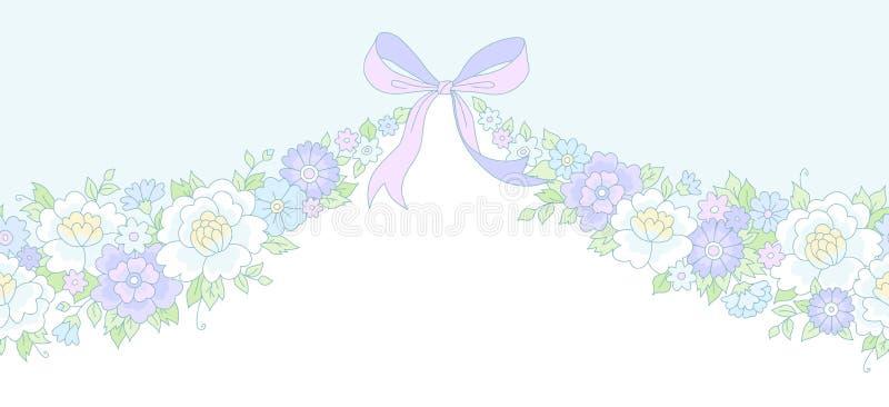 Ghirlanda floreale illustrazione di stock
