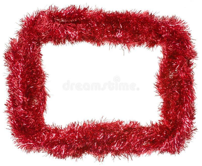 Ghirlanda rossa di natale, blocco per grafici rettangolare fotografia stock