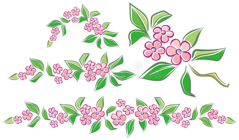 Ghirlande del fiore royalty illustrazione gratis
