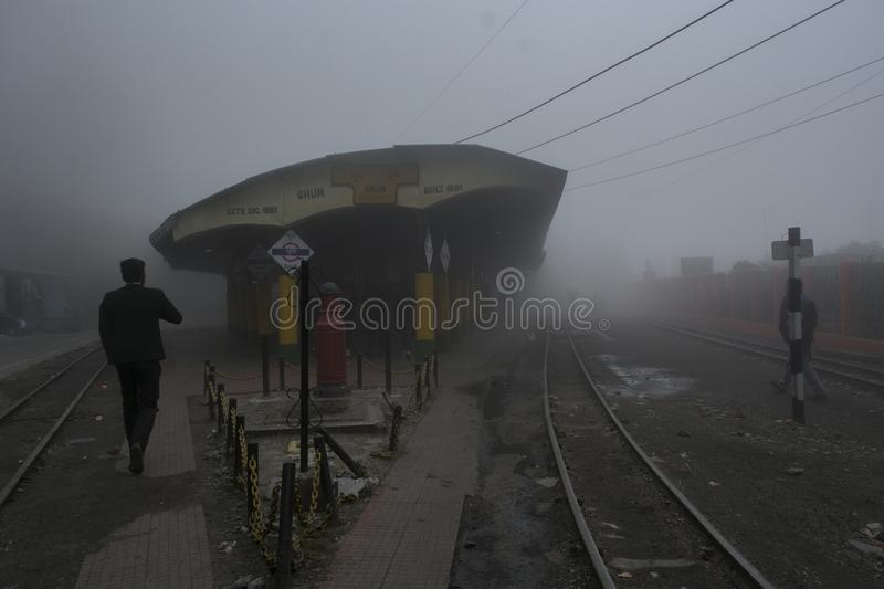 Ghoom is the Highest altitude station in West Bengal, Darjeeling royalty free stock photos