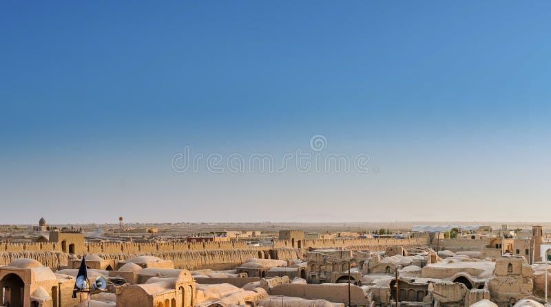Ghoortan城堡在伊斯法罕省伊朗的Varzaneh 库存图片
