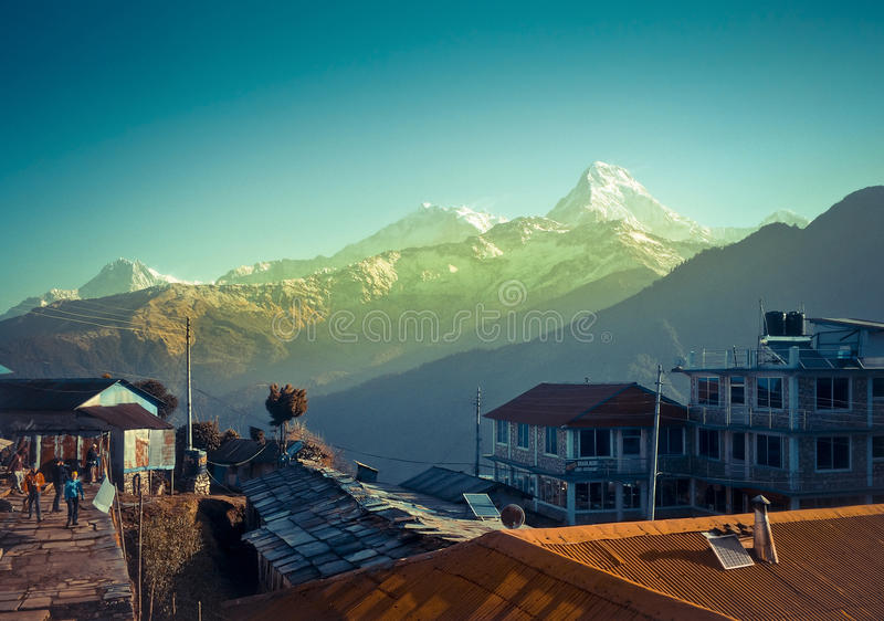 Ghorepani. Is a village in Myagdi District in the Dhaulagiri Zone of northern-central Nepal. It lies 17 kilometres from the district capital of Beni at an stock photos