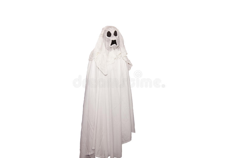 Ghost. A ghost isolated on a white background stock image