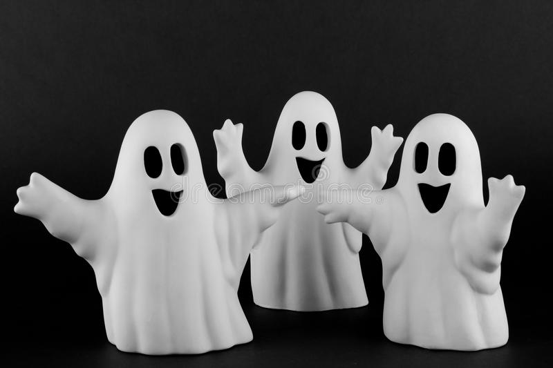 Ghost. Small white handmade ghost figure royalty free stock image