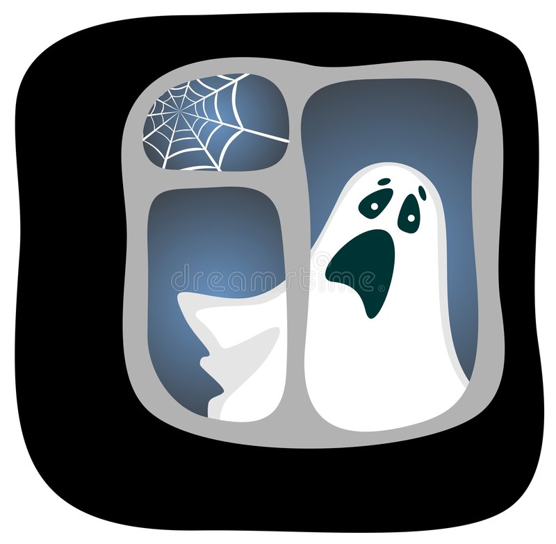 Download Ghost stock vector. Illustration of image, terrible, cartoon - 6396856