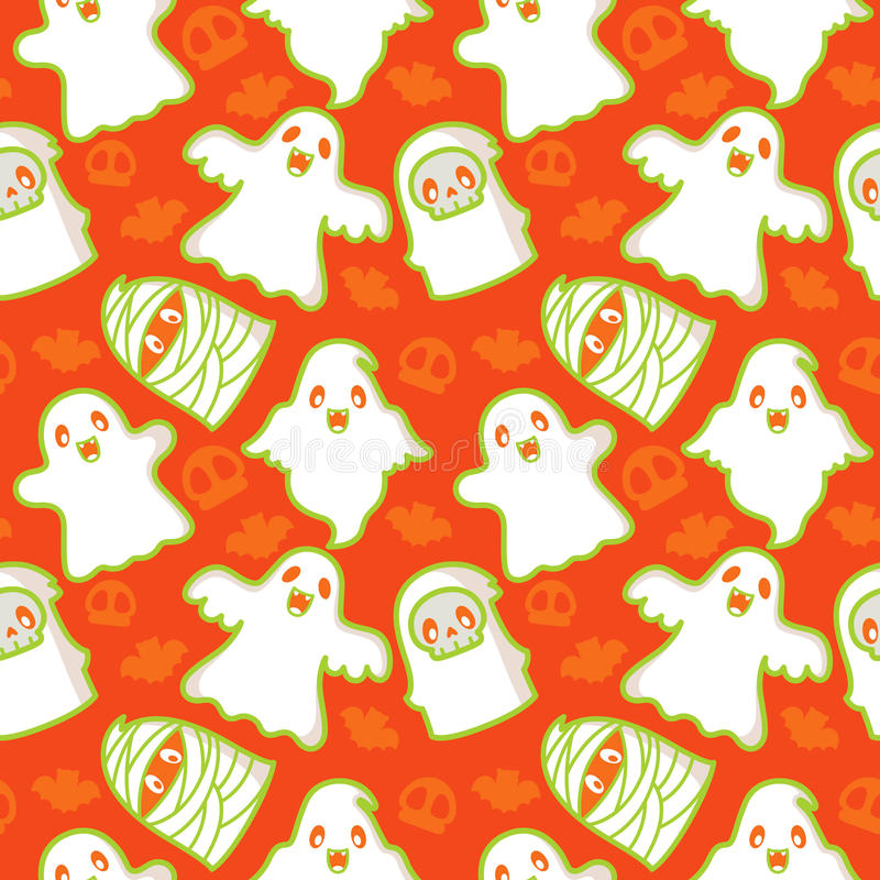 Free Ghost And Demon Pattern Royalty Free Stock Image - 16579606