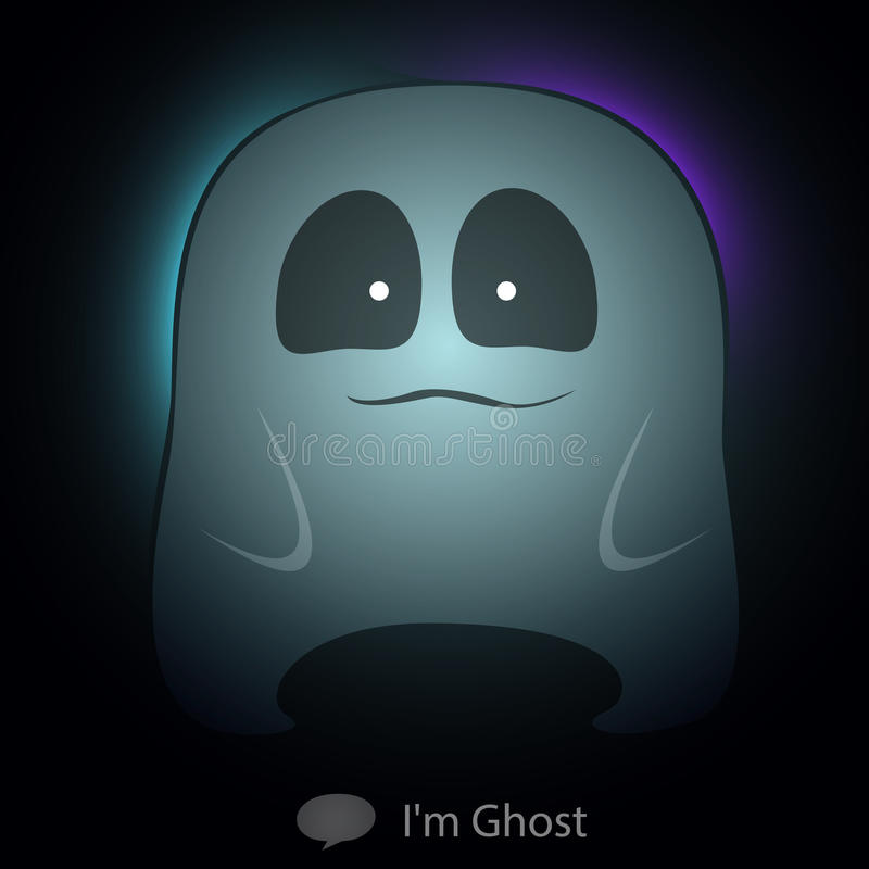 Ghost catoon charactor very cute transparency for. Halloween. Vector illustration vector illustration