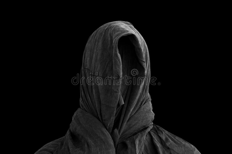 Ghost in the dark. Scary ghost in the dark royalty free stock photos