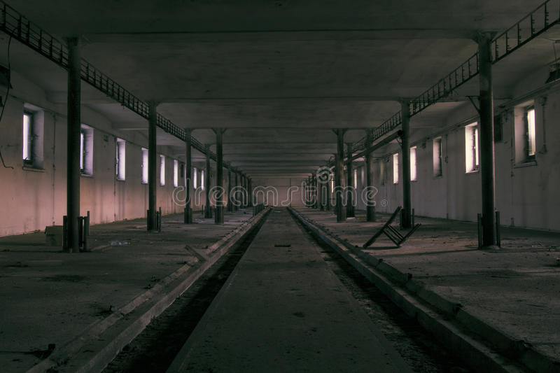 The ghost darkness dirty hall stock image