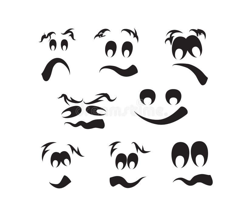 Ghost fait face, des visages de potiron illustration de vecteur