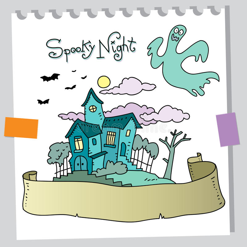 Download Ghost house stock vector. Illustration of night, outdoor - 20827228