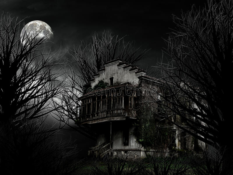 Ghost house royalty free stock photos
