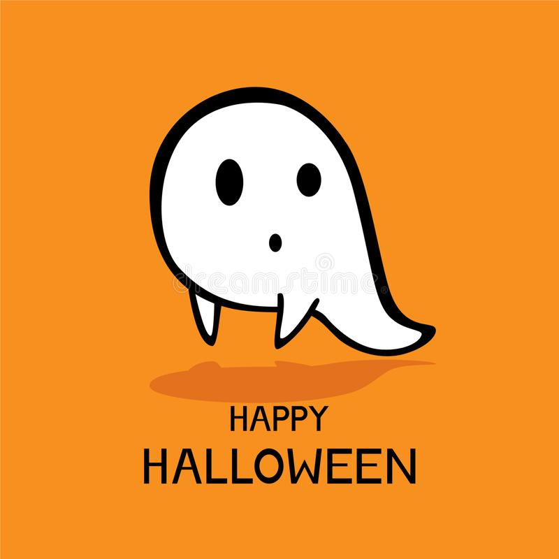 Halloween theme vector background. Ghost icon Halloween theme vector background royalty free illustration
