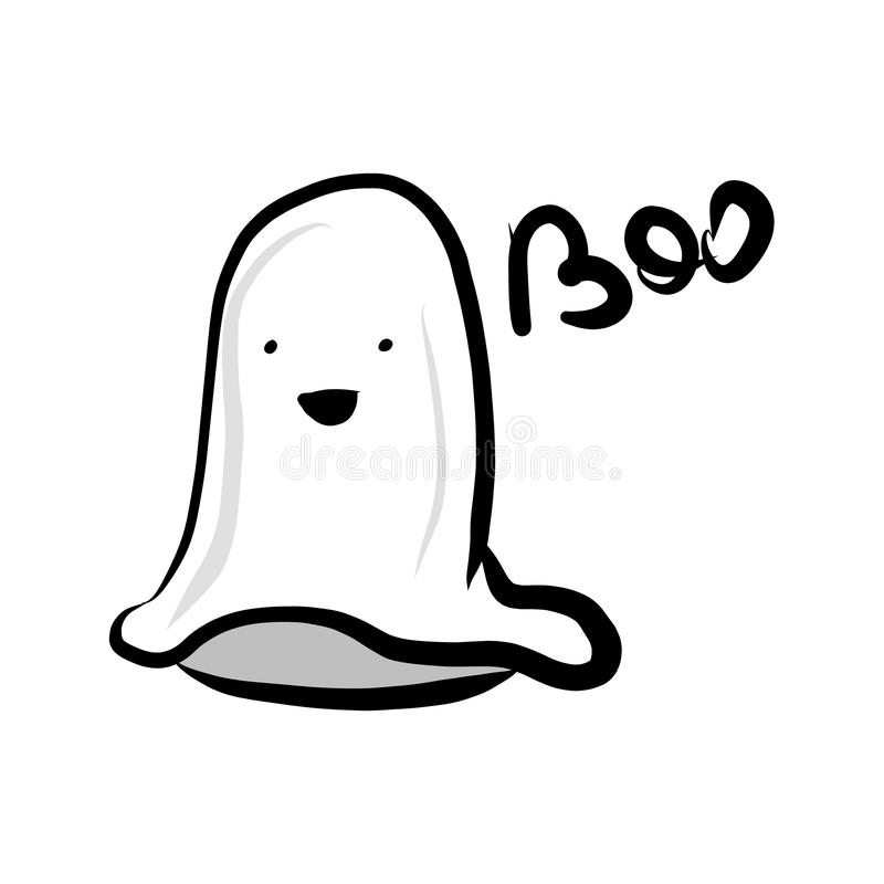 Ghost and the inscription boo. vector illustration