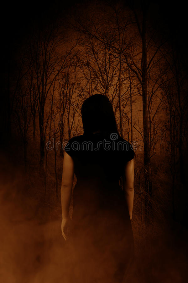 Ghost na floresta fotografia de stock royalty free