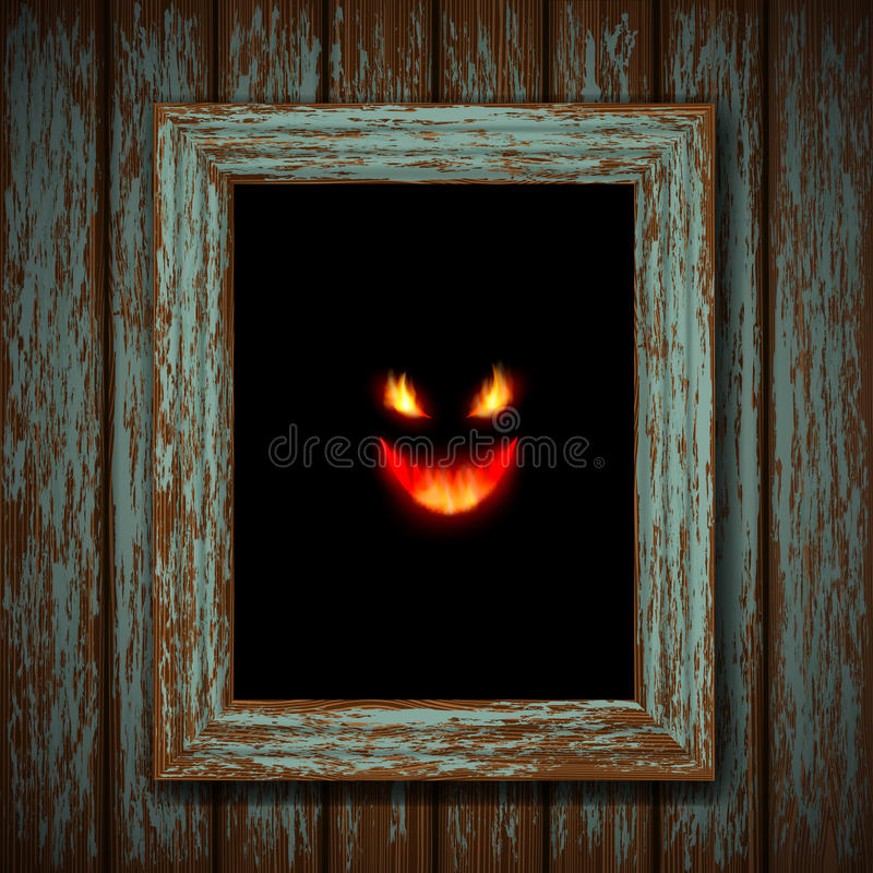 Ghost na janela ilustração do vetor