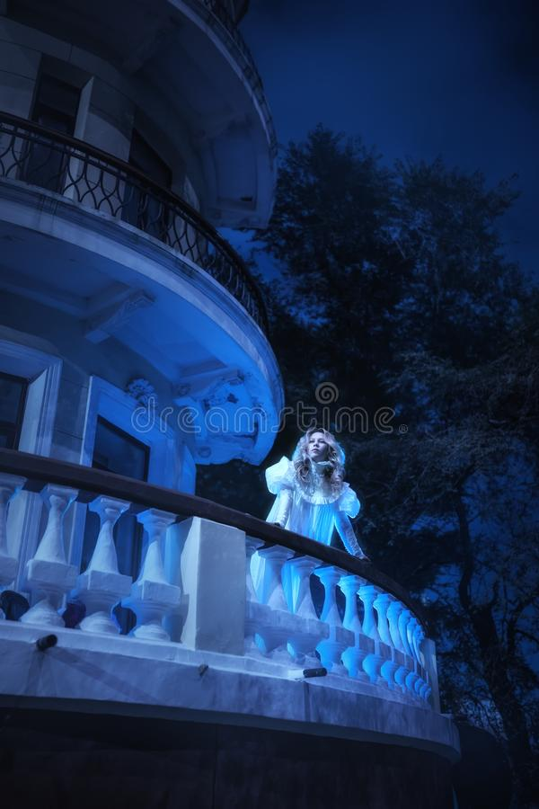 Ghost in night royalty free stock photo