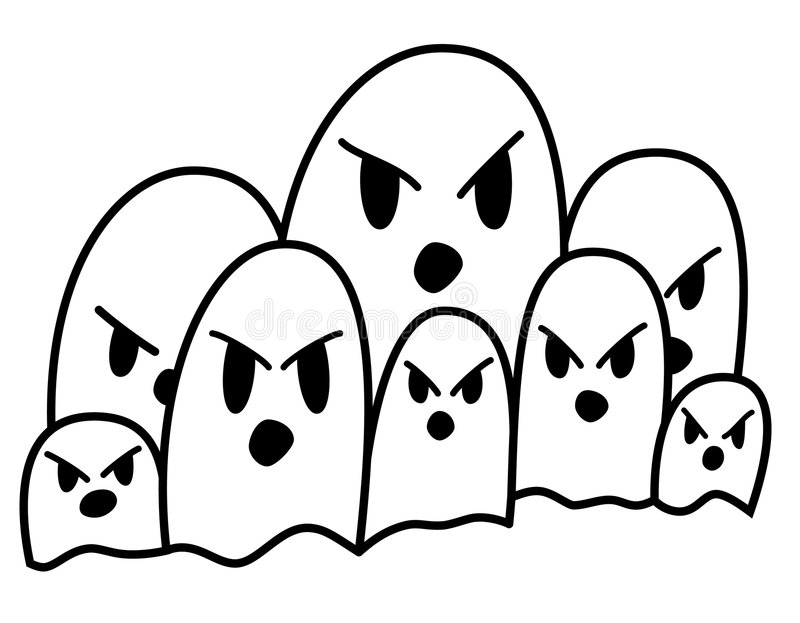 Ghost Parade royalty free stock image