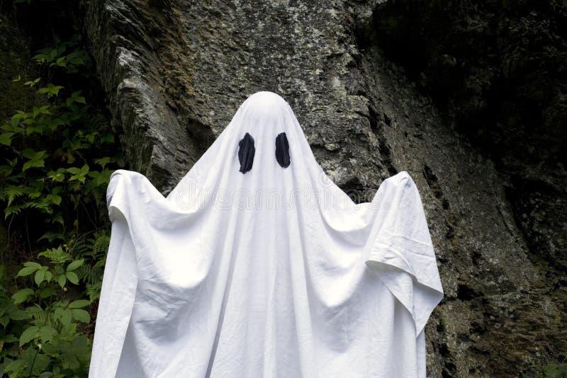 Ghost que está na frente de uma rocha foto de stock royalty free